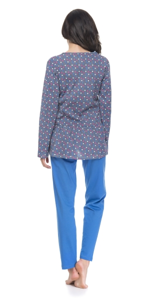 Piżama damska dn-nightwear Dots PM.9096 Royal blue