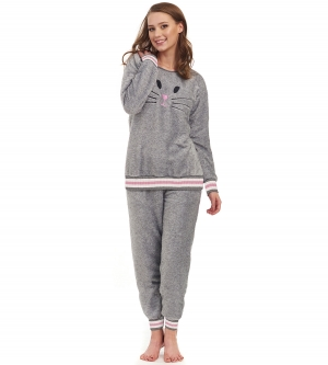 Piżama damska dn-nightwear PS.9402 Grey Melange