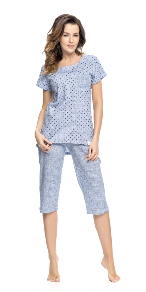 Piżama damska dn-nightwear PM.9057 Light Jeans