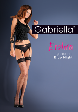 Gabriella Pończochy do paska Garter Set Blue Night