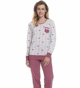 Piżama damska dn-nightwear PM.9325 Blueberry