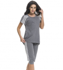 Piżama damska Doctor Nap PM.9250 Dark Grey