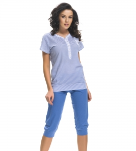 Piżama damska dn-nightwear PM.9201 Royal Blue