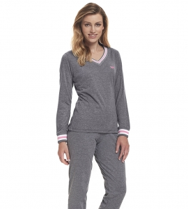 Piżama damska dn-nightwear PM.9340 Grey-P