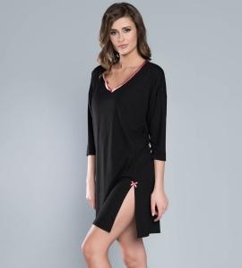 b9384a97c47d6e Koszula nocna Italian Fashion OPERA ręk.3/4 czarny/róż