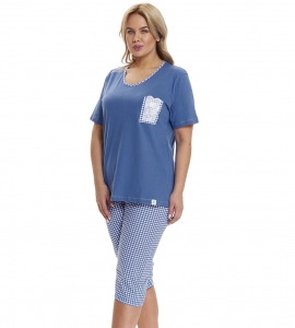 Piżama damska Doctor Nap PB.9421 ROYAL BLUE