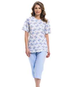 Piżama damska dn-nightwear PB.9235 Light Blue