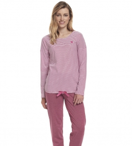 Piżama damska dn-nightwear PM.9332 Blueberry