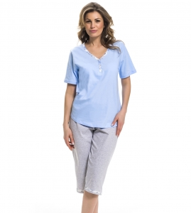 Piżama damska dn-nightwear PB.9253 Light Blue