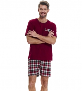 Piżama męska Doctor Nap PMB.9471 DARK RED