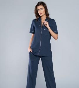 d867485155e9b5 Piżama damska Italian Fashion ARIZONA kr.dł. granat