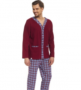 Piżama męska dn-nightwear PMB.8016 Dark Red