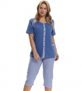 Piżama damska Doctor Nap PB.9460 ROYAL BLUE