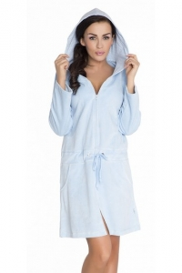 Szlafrok damski Doctor Nap Malwa SWO.1008 Light Blue