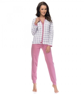 Piżama damska dn-nightwear PM.8024 Grey-P