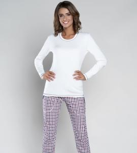 3130b9f7a76c23 Piżama damska Italian Fashion ANETA dł.dł. ecru