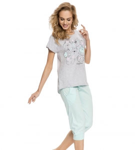 Piżama damska dn-nightwear PM.5023 Light Mint