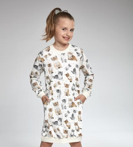 612d2d7f9 Koszula nocna Cornette Girl DR 942/105 Lovely cats 4 ecri MissiSleepy.pl