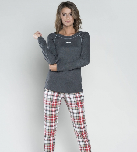 4873371dc008c6 Piżama damska Italian Fashion ROMINA dł.dł. c.melanż MissiSleepy.pl