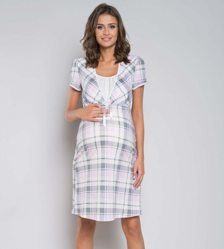 edec969d7f553b Koszula nocna Italian Fashion HANA kr.ręk. kratka MissiSleepy.pl