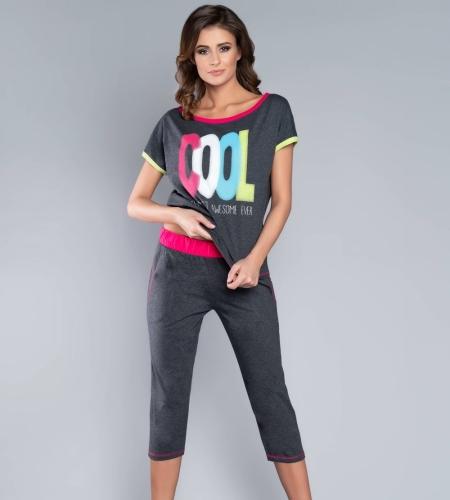 0bf3d335985b9d Piżama damska Italian Fashion COOL kr.3/4 c.melanż MissiSleepy.pl