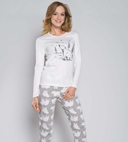 70e852c049e660 Piżama damska Italian Fashion Arctic ecru MissiSleepy.pl