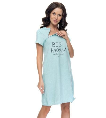 Koszula nocna Doctor Nap TCB.9081 Mint Grey MissiSleepy.pl  aCHJj