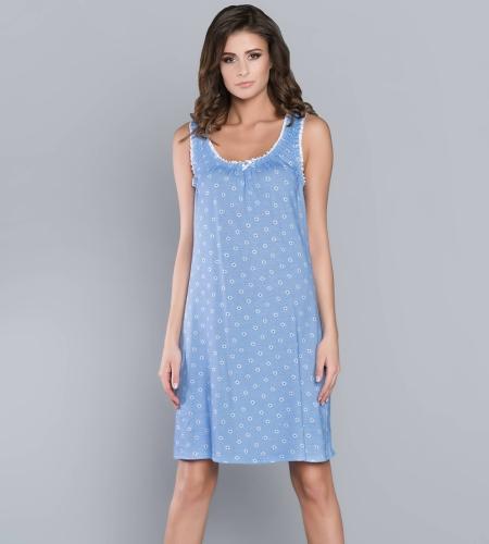 c4ce29d8555ae8 Koszula nocna Italian Fashion STOKROTKA szer.ram. niebieska ...