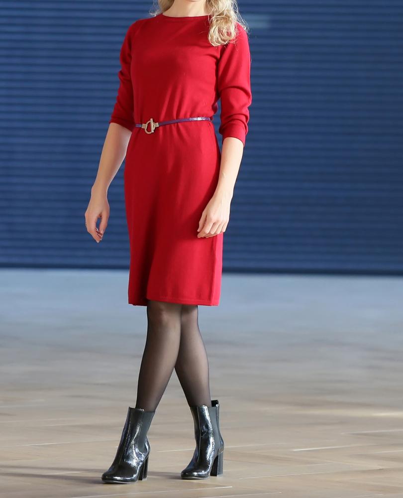 Jakie rajstopy do czerwonej sukienki?
