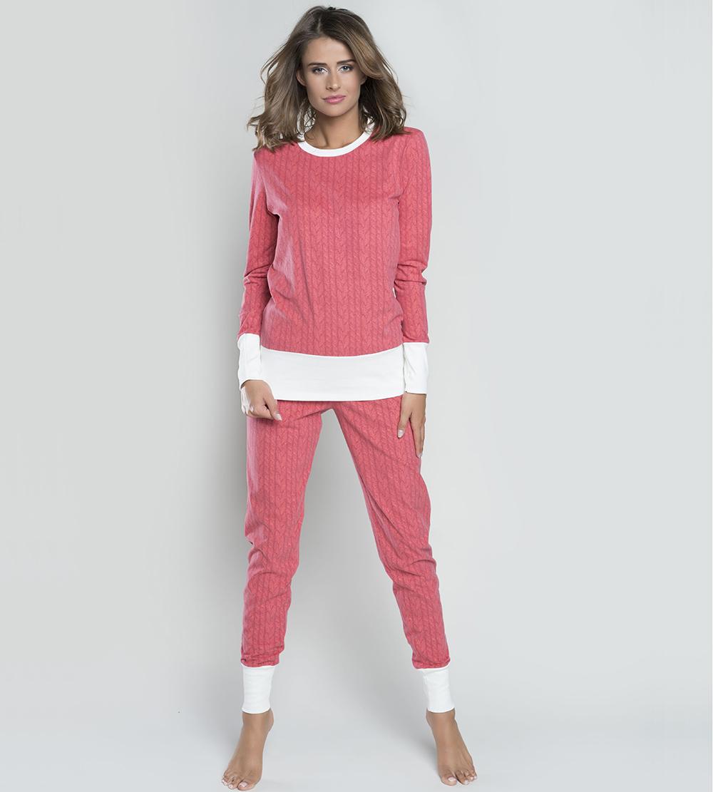 5f59bb224b72d5 Piżama damska Italian Fashion OSLO dł.dł. malina MissiSleepy.pl