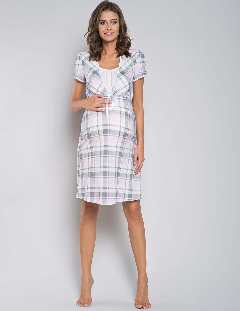 f1fbaa1e25ff02 Koszula nocna Italian Fashion HANA kr.ręk. kratka. Koszula ciążowa. Koszula  ciążowa · Koszula ciążowa ...