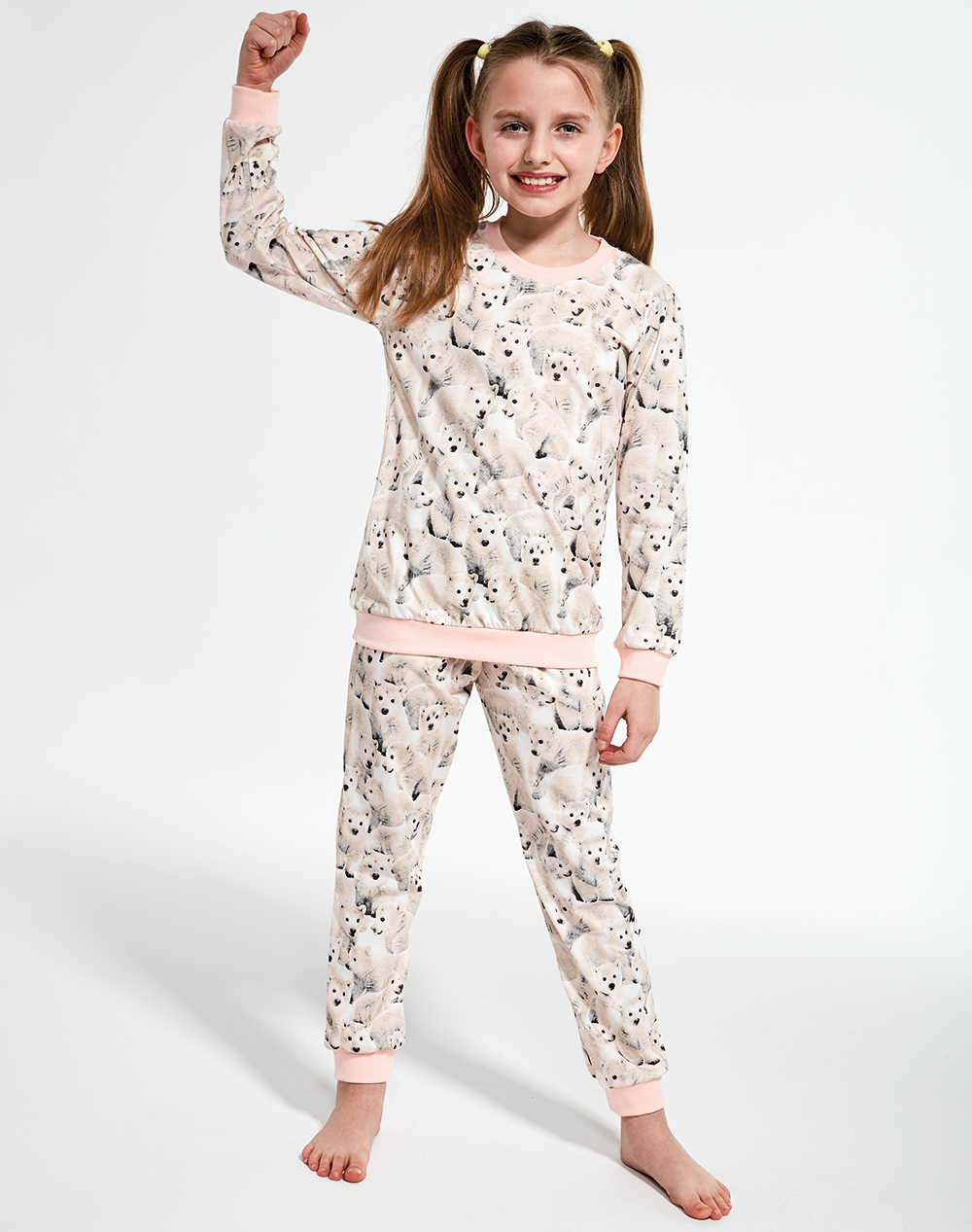 aa9c4f5f5f77a5 Piżama dziewczęca Cornette 032(3)/118 Polar bear beż. Piżama w misie  polarne. nowość. Piżama w misie polarne; Piżama w misie polarne ...