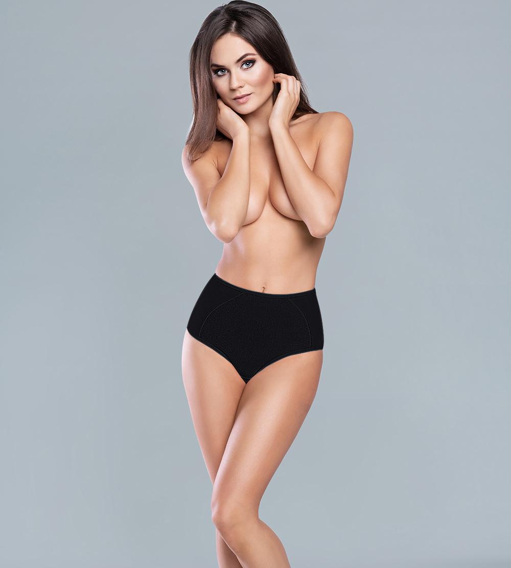 Majtki damskie Italian Fashion Jana Maxi czarne